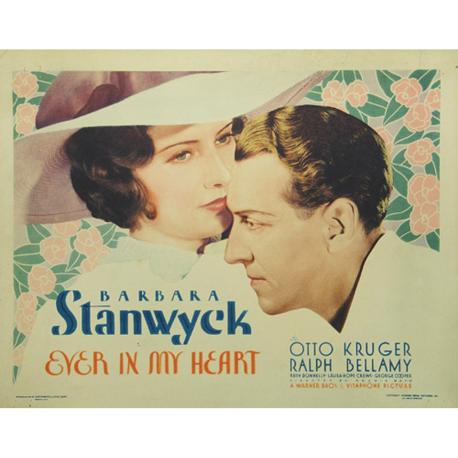 Ever in My Heart  1933  WWI Barbara Stanwyck